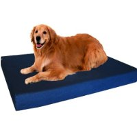 Orthopedic Dog Bed Memory Foam Pad For Large Dogs - Navy Blue Color