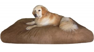 Jumbo XXXL Overstuffed Orthopedic Water Resist Suede Dog Bed For Large Dogs