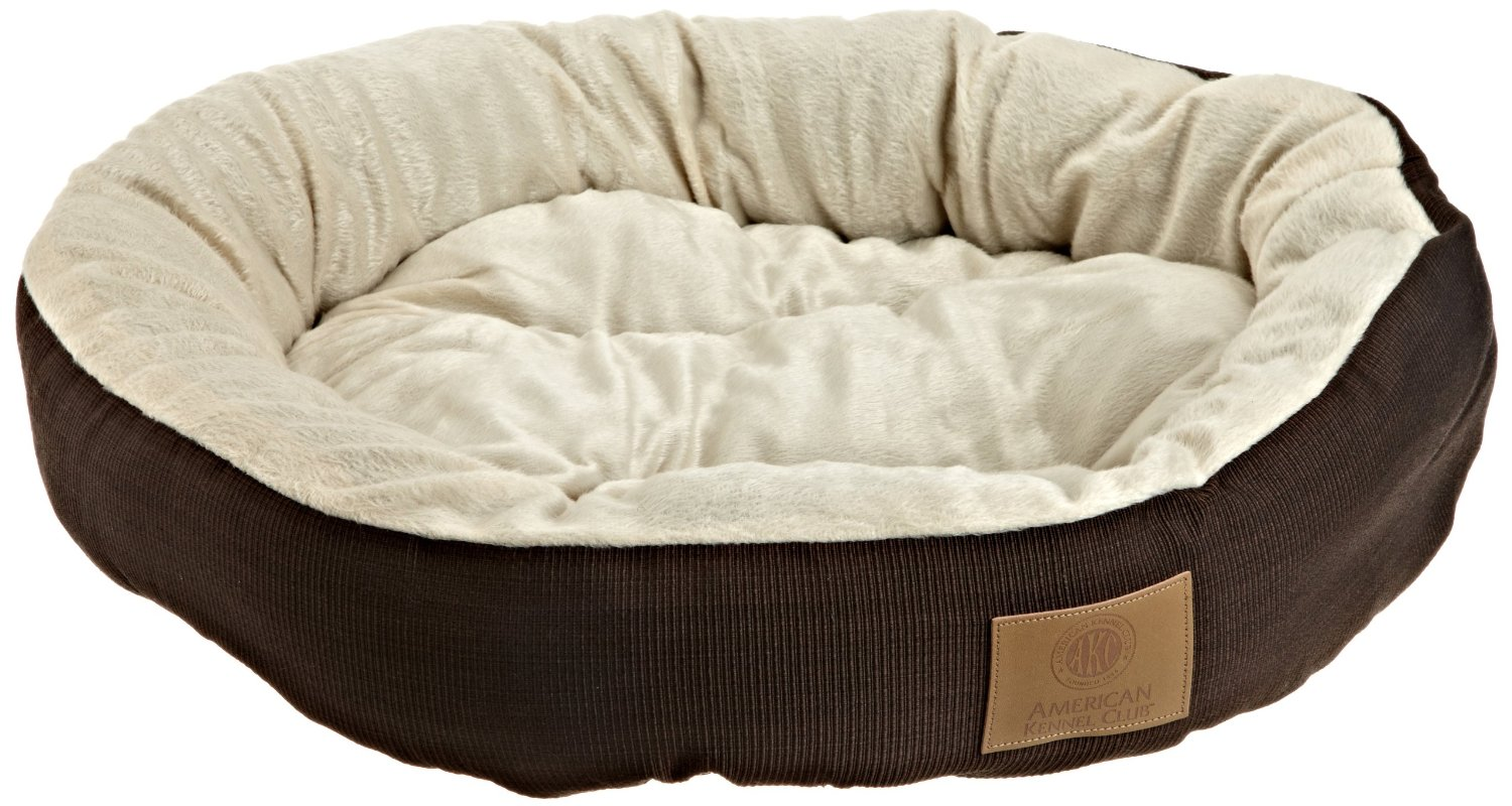 AKC Casablanca Round Solid Pet Bed Brown