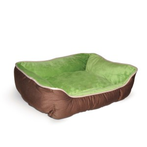 K H Lounge Sleeper Self-Warming Pet Bed Small Mocha Green
