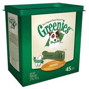 Greenies Dental Treats Petite Size Shown