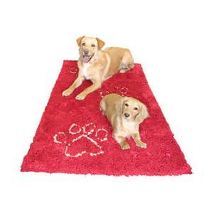 Two Dogs On Dirty Dog Doormat Runner Maroon