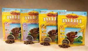 Zukes 1-lb Mini Naturals Dog Treats Four Flavors Pictured