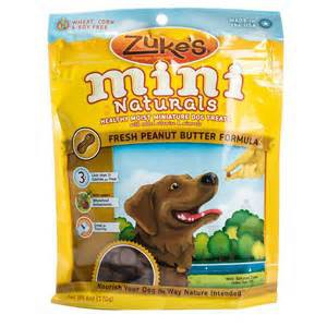 Zukes Mini Naturals Healthy Moist Dog Peanut Butter Flavor
