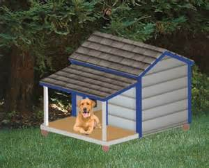 Dog House Plans - Insolated Dog House Dog In Porch