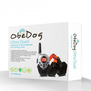 ObeDog 1100 Yards Ultra Dual Rechargeable Dog Training Collar Package