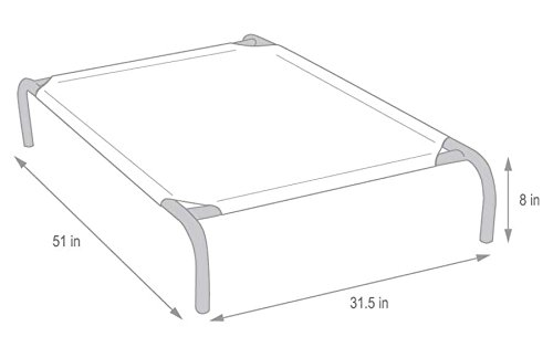Coolaroo Elevated Bed Frame Dimensions