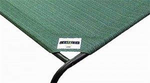 Coolaroo Elevated Pet Bed Large Close-Up Brunswick Green