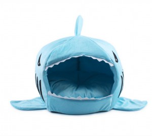 Shark Collapsible Indoor Pet Bed Blue
