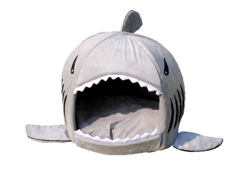 Shark Collapsible Indoor Pet Bed Grey – #1 Best-Seller