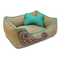 Blueberry Pet Heavy Duty Microsuede Overstuffed Dog Bed, Recyclable & Removable Stuffing