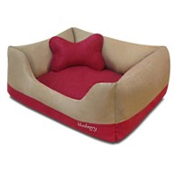 Blueberry Pet Heavy Duty Microsuede Overstuffed Dog Bed
