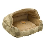 K&H Manufacturing Hooded Lounge Sleeper Tan
