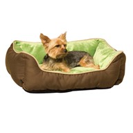 K&H Manufacturing Self-Warming Lounge Sleeper Small Mocha/Green 16-Inch by 20-Inch