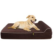 Kopeks Orthopedic Memory Foam Dog Bed - Dark Brown