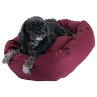 Sherpa Bagel Dog Bed By Majestic Pet Products by Majestic Pet Burgundy