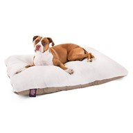 Khaki Rectangle Pet Dog Bed By Majestic Pet Products Large