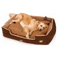 PLS Thermo Bolster Dog Bed with Pillow and Removable Cover with Zipper