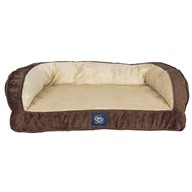 Serta Orthopedic Quilted Couch, Large, Mocha