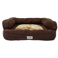 Simmons Beautyrest Colossal Rest Orthopedic Memory Foam Dog Bed, Medium - Corduroy Chocolate