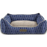 Trendy Pet Bolstered Ultra-Soft Microfiber Pet Bed, 17 x 22 x 7 -Inch, Navy Blue