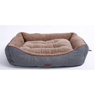 Luxury Self Warming Premium Dog Bed With Ultra Soft Detachable Plush Sherpa Thick Organic Cotton DREAM BED by Smiling Paws Pets