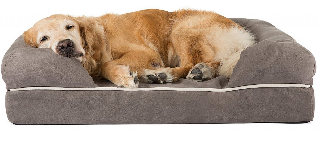 Friends Forever 100% Suede Dog Bed X-Large Pewter