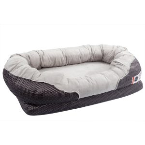 "BarksBar Gray Orthopedic Dog Bed 40"" x 30"" x 10"""