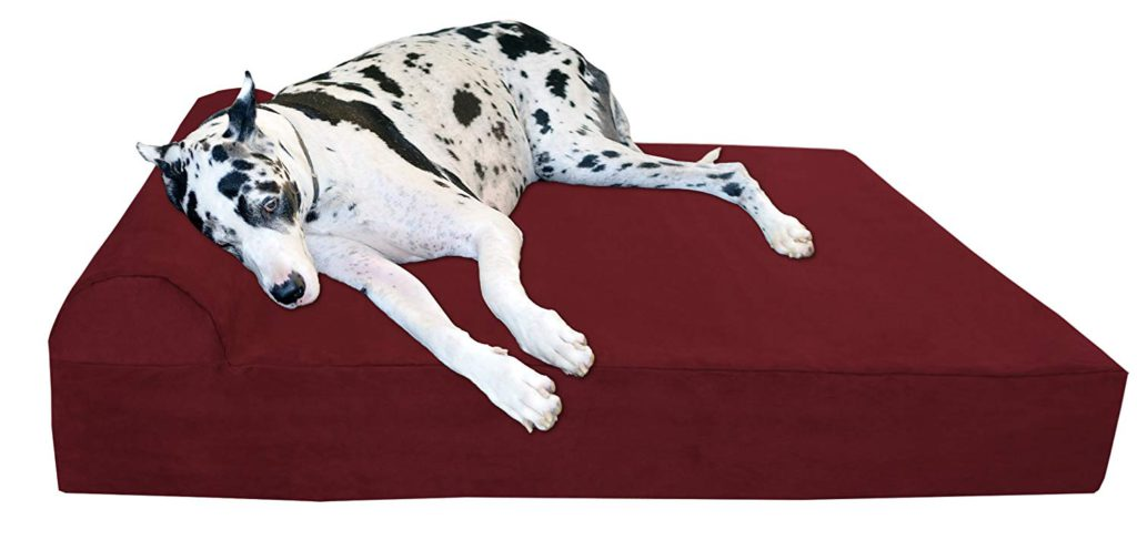 Big Barker Large Dog Bed Burgundy