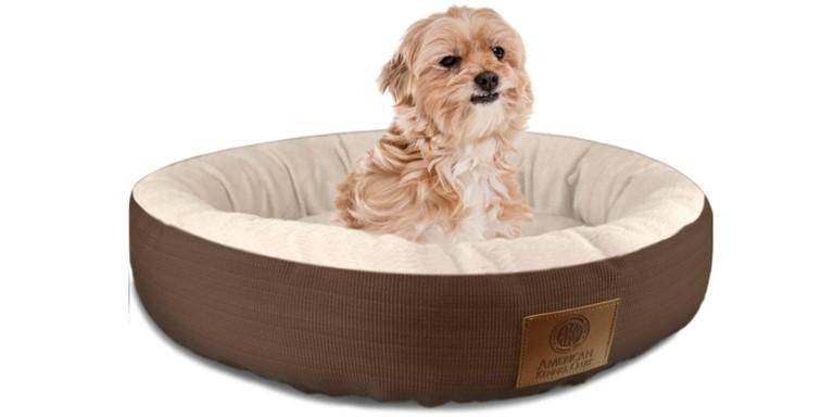 AKC Casablanca Solid Round Pet Bed