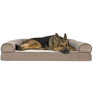Furhaven Orthopedic Ergonomic Sofa Dog Bed