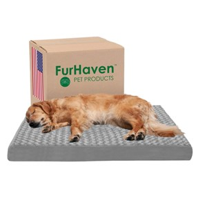 Furhaven Orthopedic Rectangular Mattress Bed