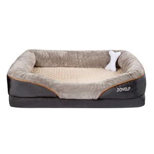 JOYELF Orthopedic Bolster Dog Bed
