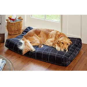 Orvis Toughchew Rectangular Medium Dog Bed With Headrest
