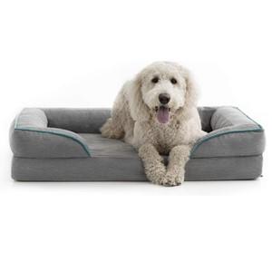 Brindle Orthopedic Bolster Dog Bed