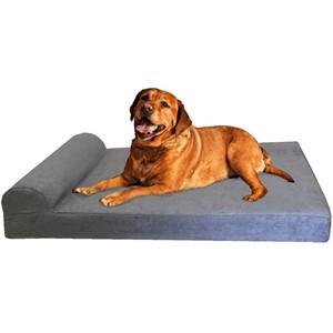 Dogbed4less Orthopedic Bolster Dog Bed
