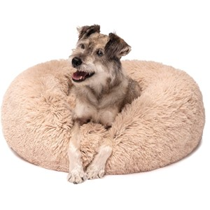 Friends Forever Donut Bolster Dog Bed