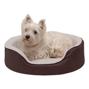 Furhaven Round Orthopedic Bolster Dog Bed