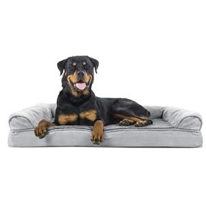 Furhaven Sofa Orthopedic Bolster Dog Bed