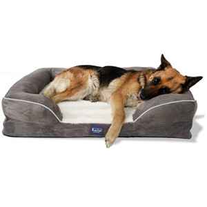 Laifug Orthopedic Bolster Dog Bed