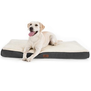 Bedsure Rectangular Orthopedic Dog Bed Grey