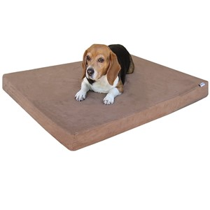 DogBed4Less Rectangular Brown Dog Bed Medium Dogs