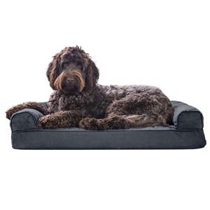 Furhaven Pet Bolster Sofa Dog Bed Medium Dogs