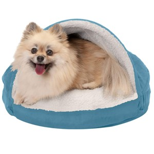 Furhaven Pet Round Cave Orthopedic Dog Bed Small Dogs
