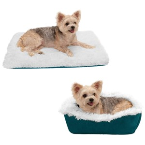 Furhaven Pet Self-Warming Bolster Dog Bed Small Dogs