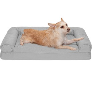 Furhaven Pet Quilted Bolster Dog Bed Medium Dogs