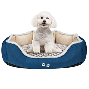 KROSER Self-Warming Bolster Orthopedic Dog Bed Small Dogs