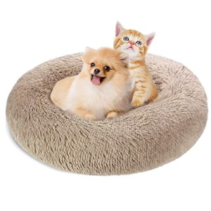 KROSER Self-Warming Donut Orthopedic Dog Bed Small Dogs