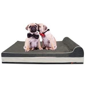 Laifug Rectangular Headrest Dog Bed Medium Dogs