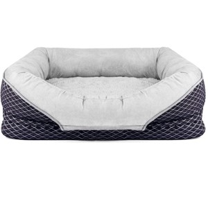 Pet Deluxe Bolster Orthopedic Dog Bed Small Dogs